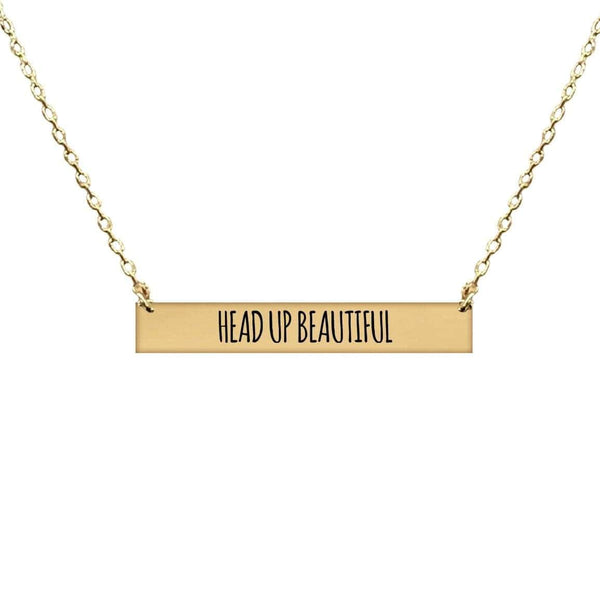 HEAD UP BEAUTIFUL BAR NECKLACE
