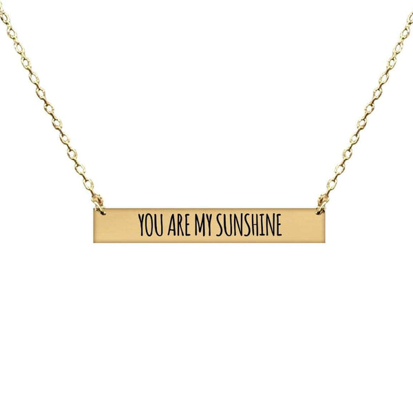 YOU ARE MY SUNSHINE BAR NECKLACE