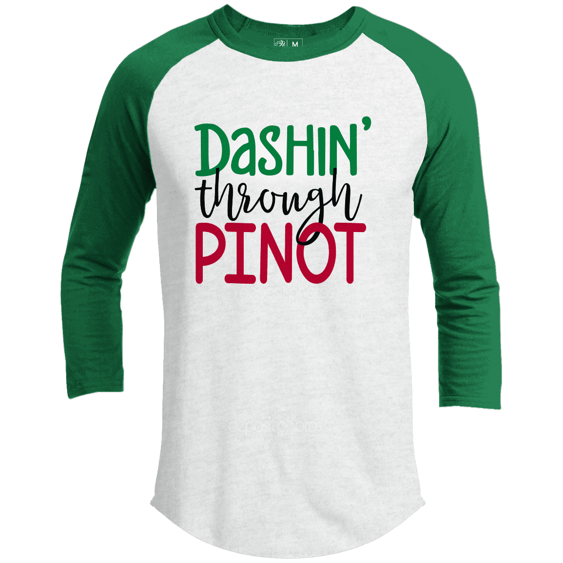 DASHIN THROUGH PINOT Premium Christmas Raglan