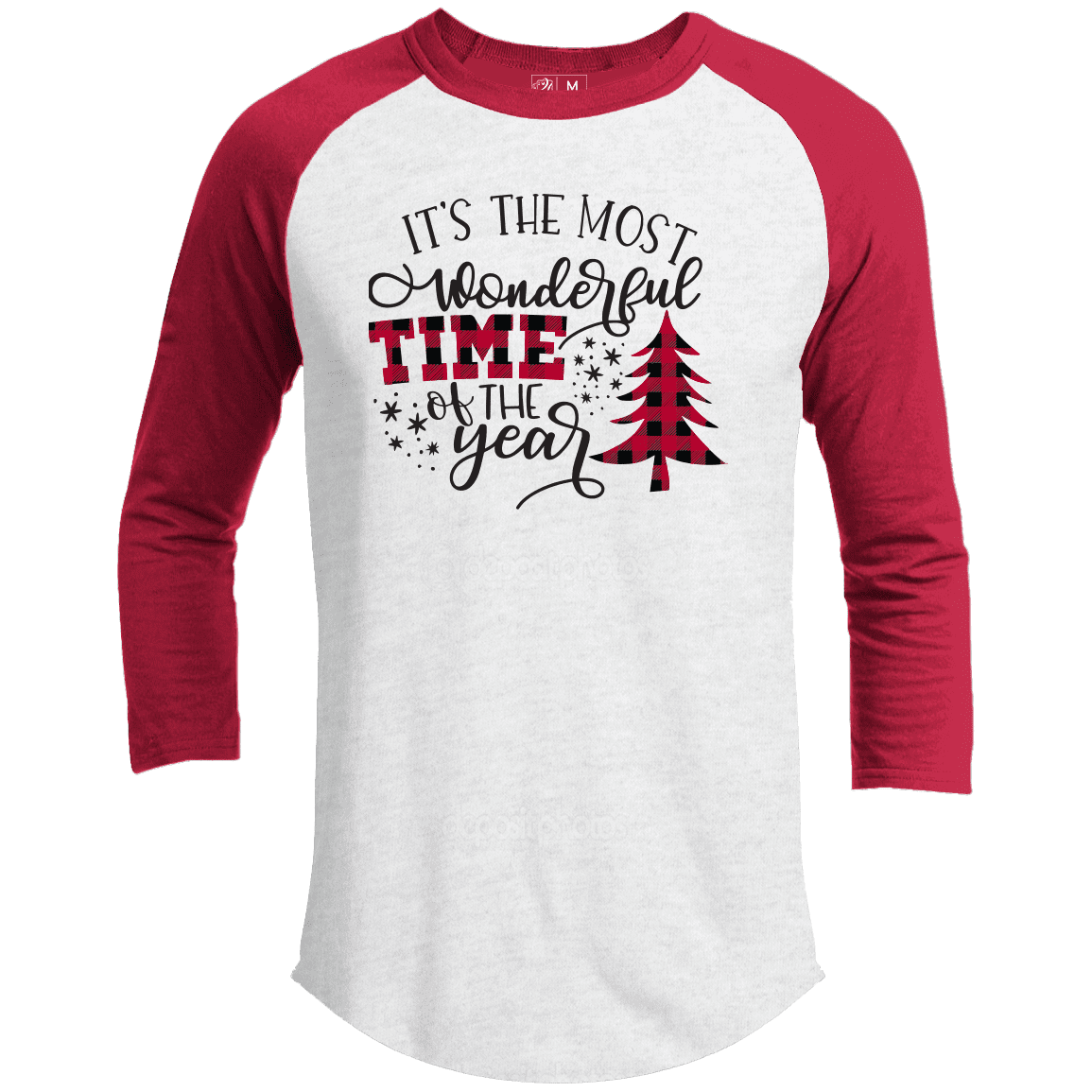 MOST WONDERFUL TIME OF THE YEAR Premium Christmas Raglan