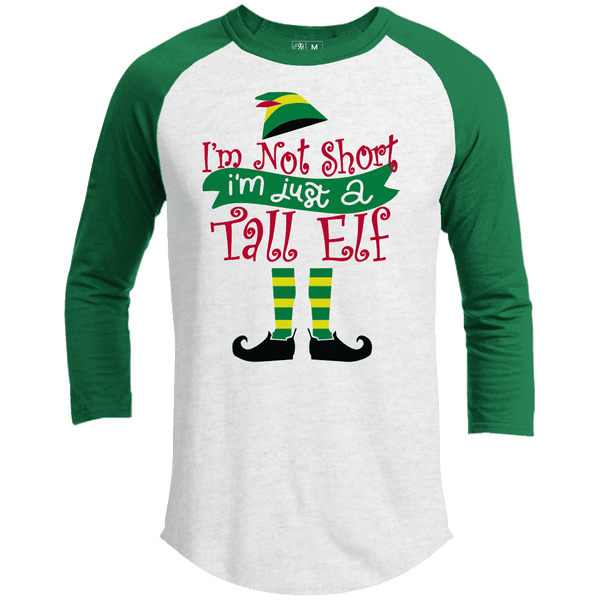 Tall Elf Premium Christmas Raglan