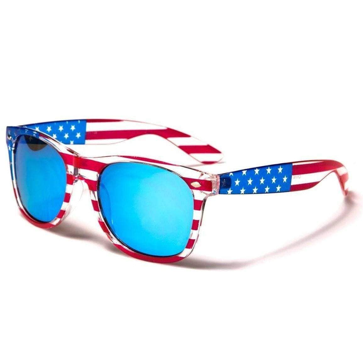 American Flag Poly Sunglasses W/ Flag Pouch