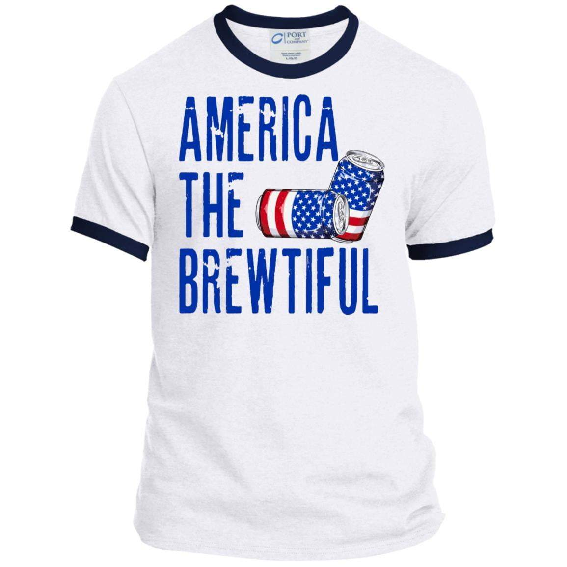 AMERICA THE BREWTIFUL 4th of July Ringer T