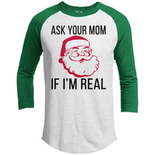 T-Shirts - Ask Your Mom Premium Christmas Raglan