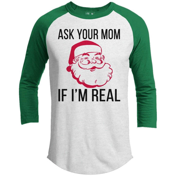 Ask Your Mom Premium Christmas Raglan