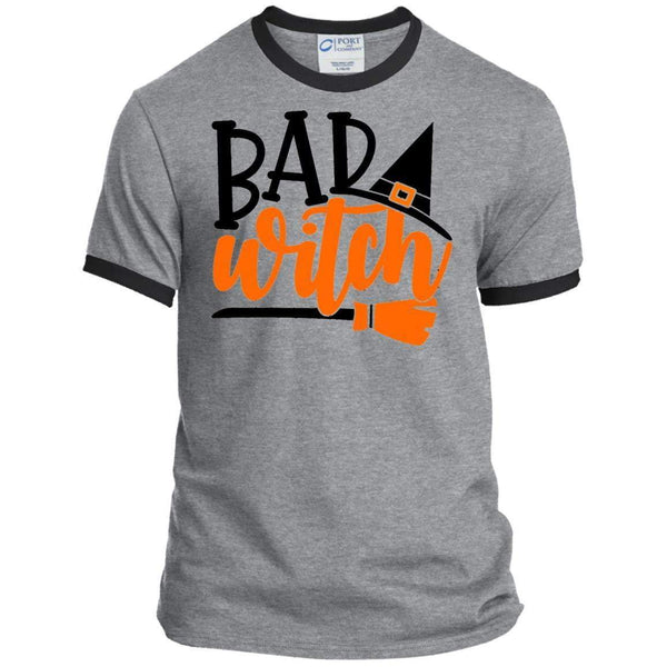 BAD WITCH Halloween Ringer Tee
