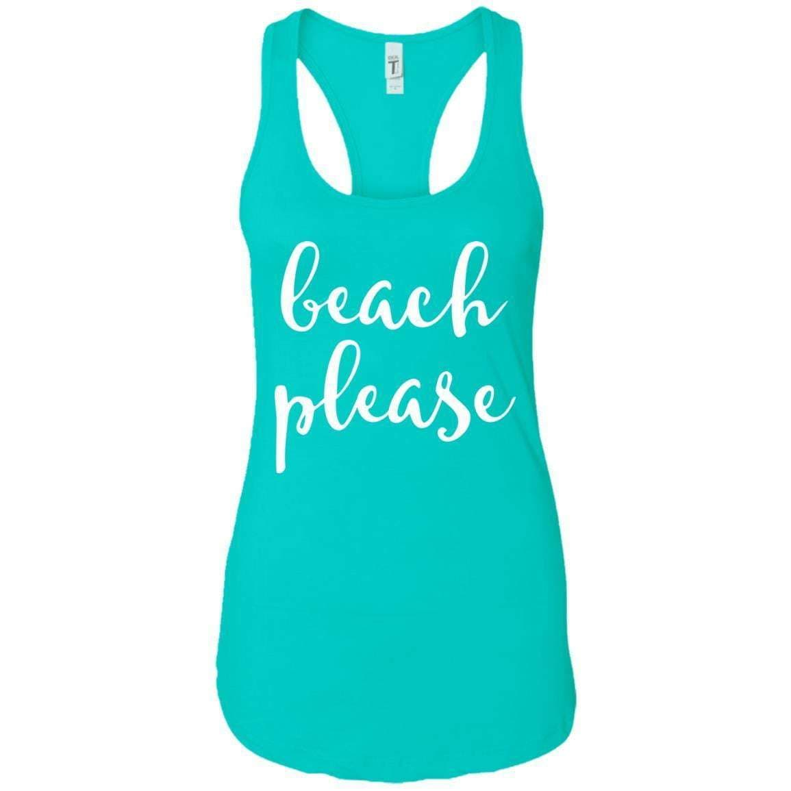 Beach Please Women's Racerback Tank