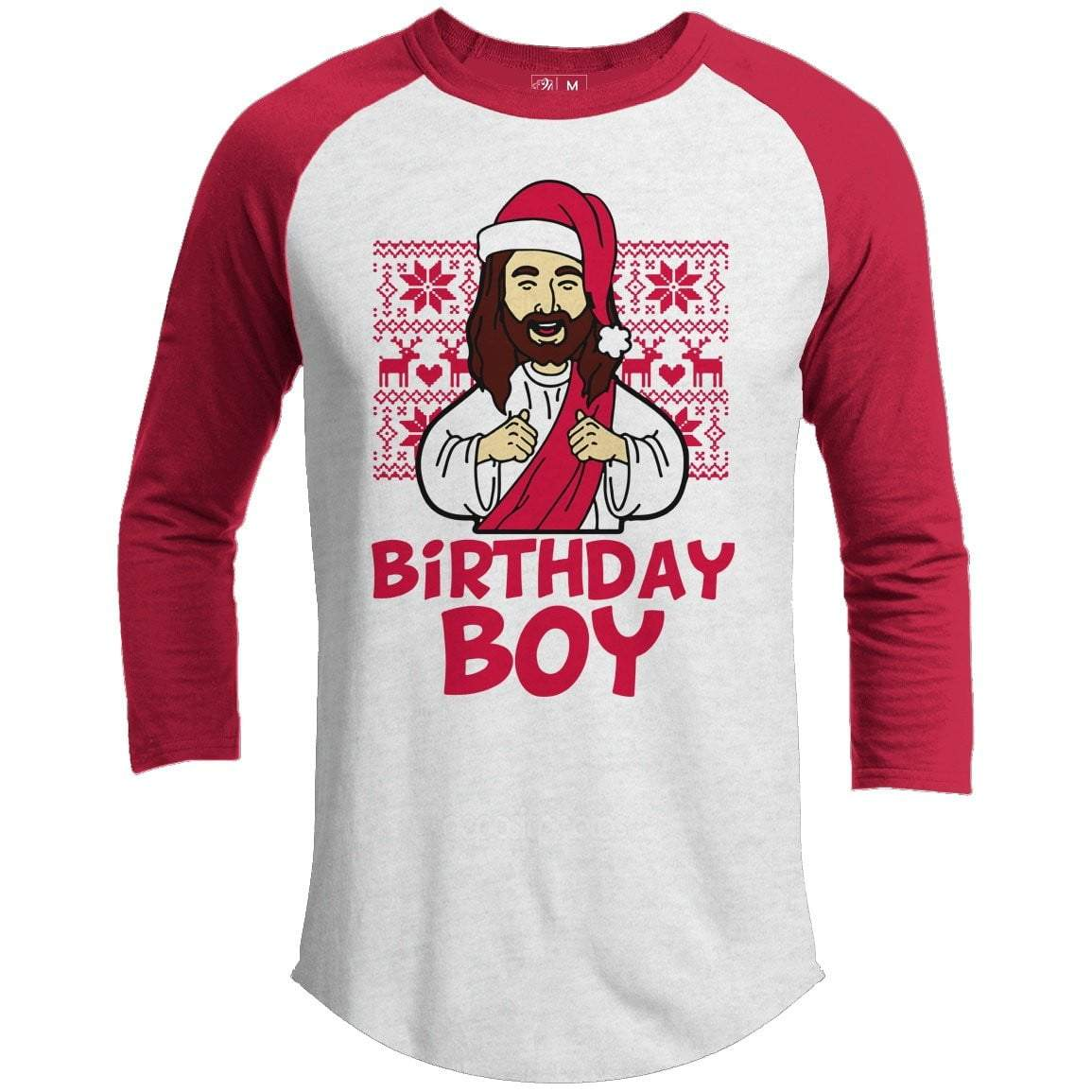 BIRTHDAY BOY Premium Youth Christmas Raglan
