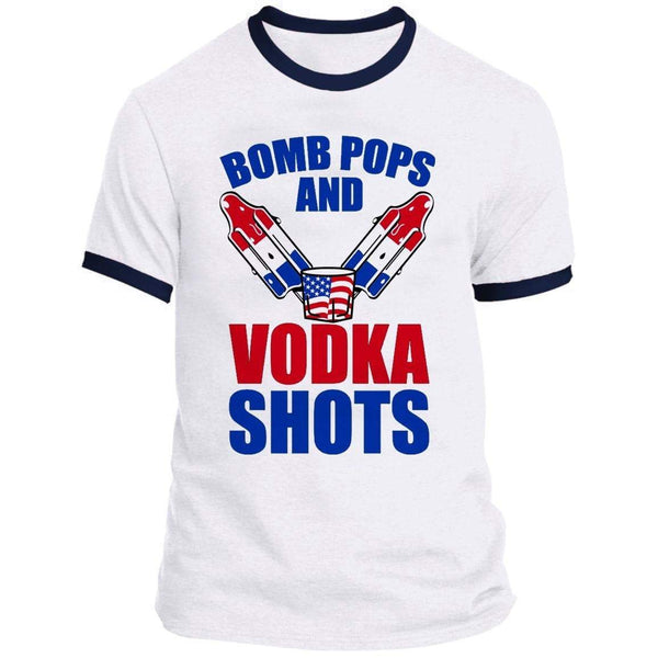 Bomb Pops And Vodka Shots Ringer Tee