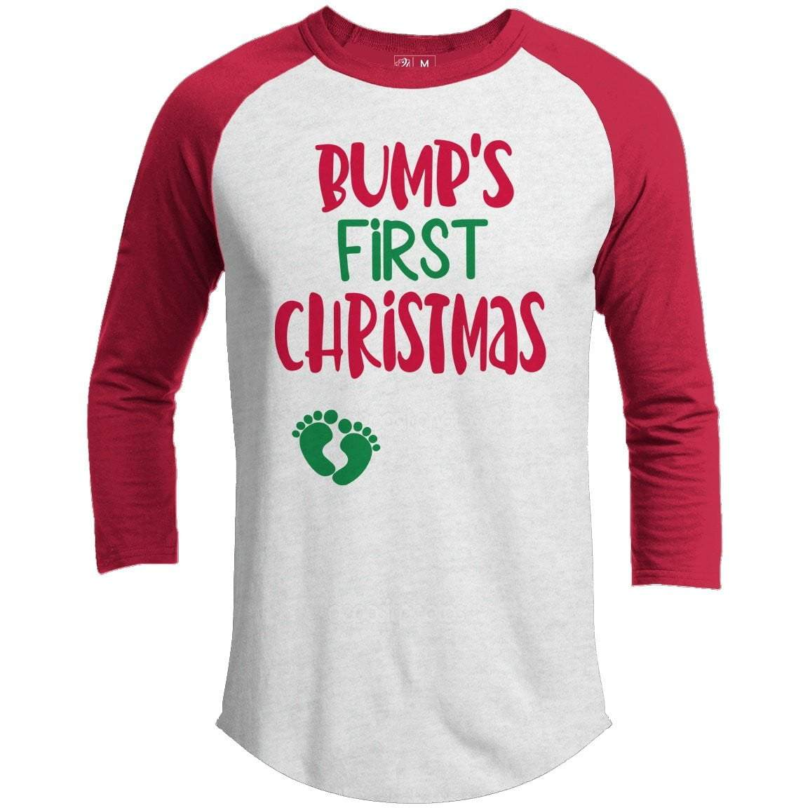 Bumps First Christmas Premium Christmas Raglan
