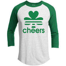 T-Shirts - Cheers St. Patrick's Day Raglan
