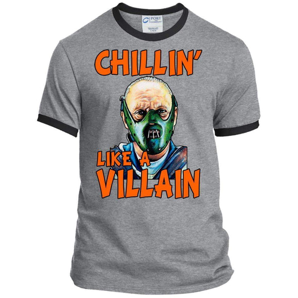CHILLIN LIKE A VILLAIN - HANNIBAL Halloween Ringer Tee