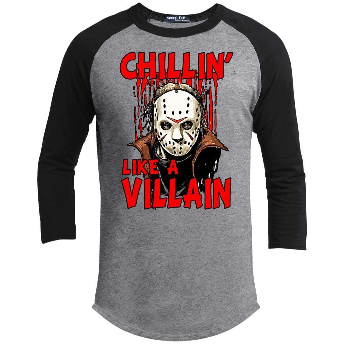 CHILLIN LIKE A VILLAIN - JASON Unisex 3/4 Sleeve Raglan