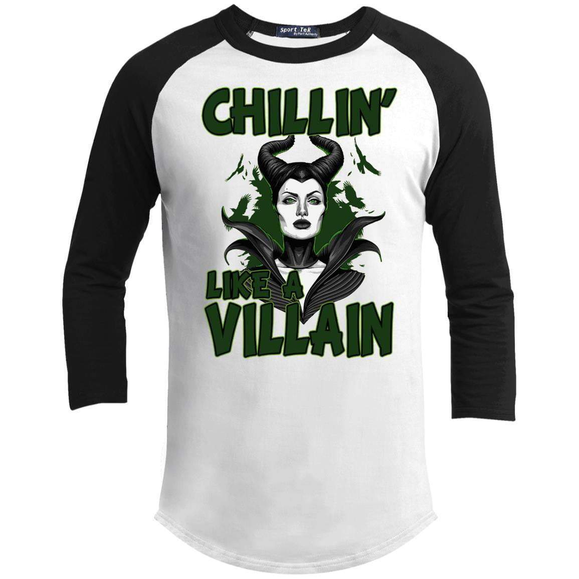 CHILLIN LIKE A VILLAIN - MALIFICENT Unisex 3/4 Sleeve Raglan
