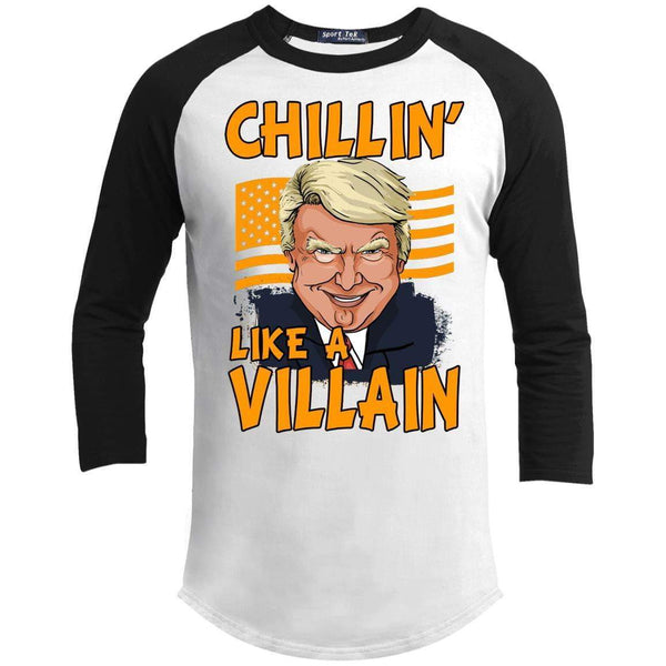 CHILLIN LIKE A VILLAIN - TRUMP Unisex 3/4 Sleeve Raglan