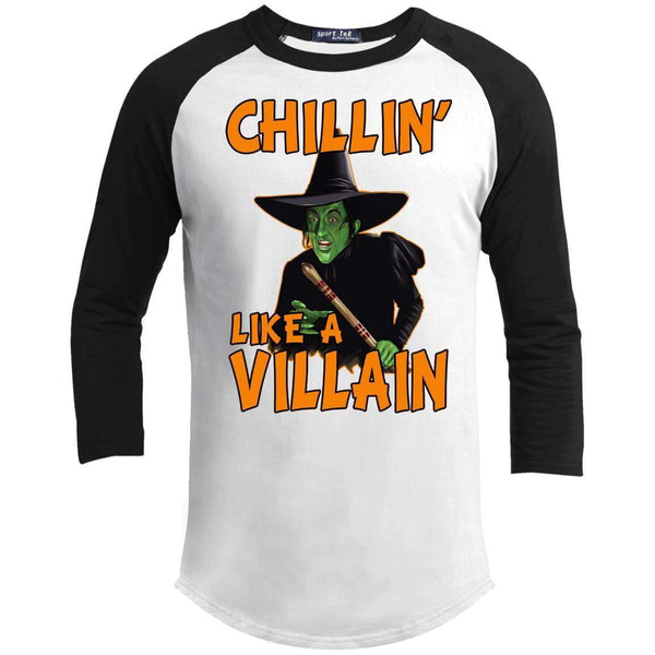 CHILLIN LIKE A VILLAIN - WICKED WITCH Unisex 3/4 Sleeve Raglan