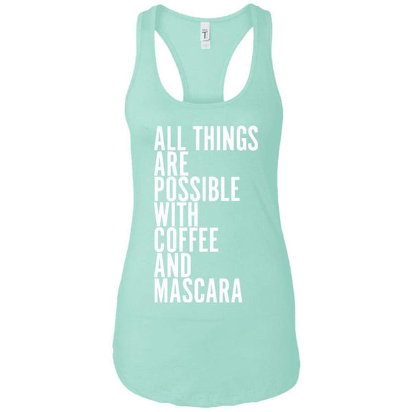 Coffee and Mascara Women's Racerback Tank