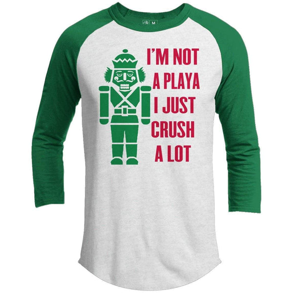 Crush A Lot Premium Youth Christmas Raglan