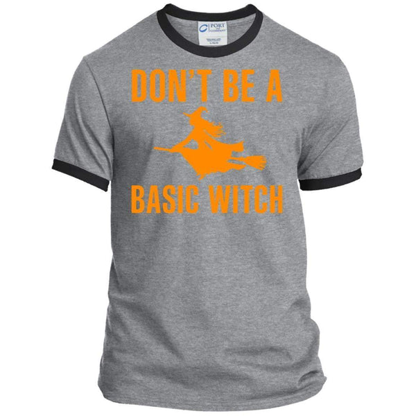 DON'T BE A BASIC WITCH Halloween Ringer Tee