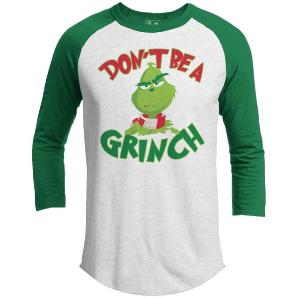 DON'T BE A GRINCH Premium Youth Christmas Raglan