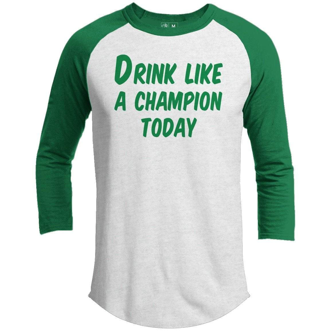 Drink Champion St. Patrick's Day Raglan