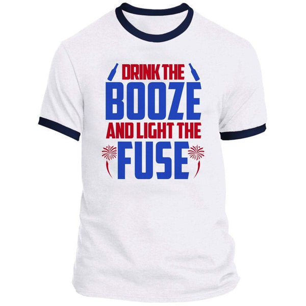 Drink The Booze Ringer Tee