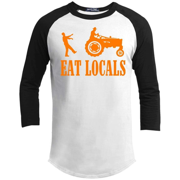 EAT LOCALS Unisex 3/4 Sleeve Raglan