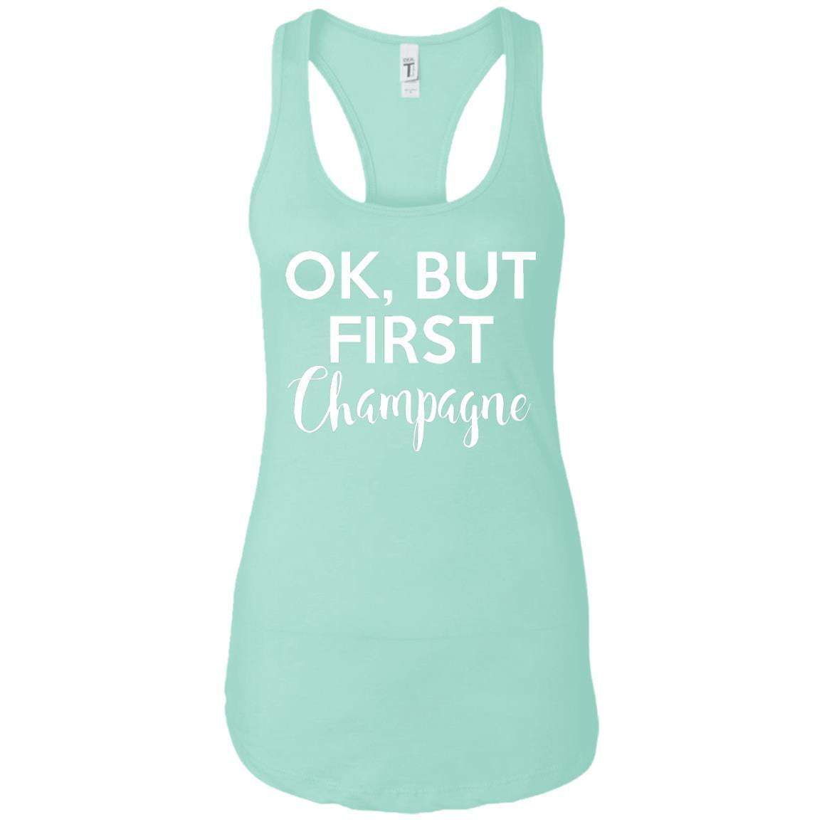 First Champagne Women's Racerback Tank