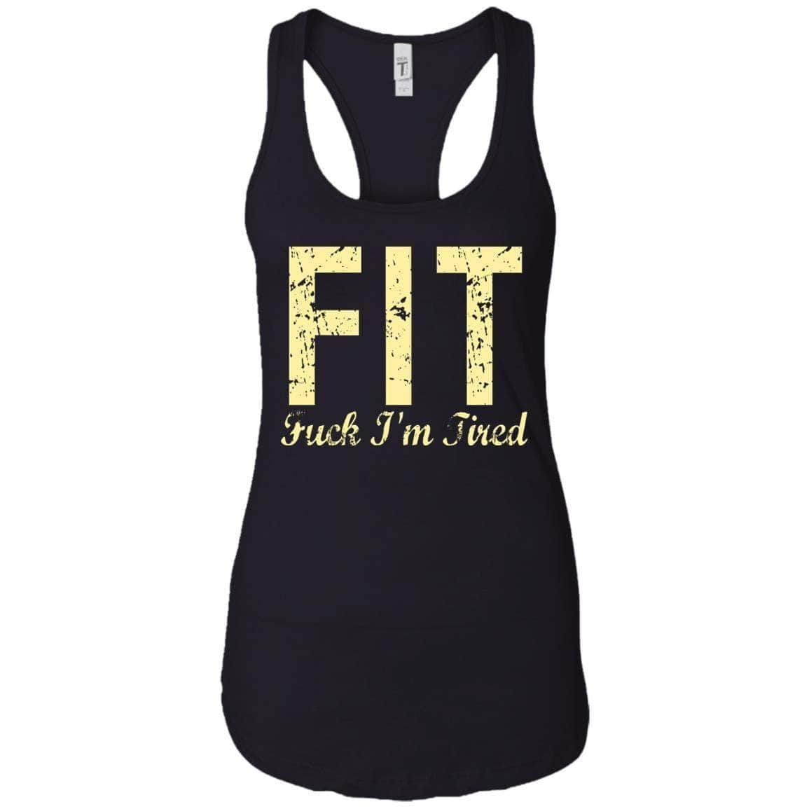 FUCK I'M TIRED WOMEN'S RACERBACK TANK