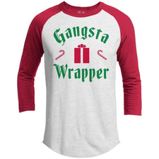 T-Shirts - Gangsta Wrapper Premium Christmas Raglan