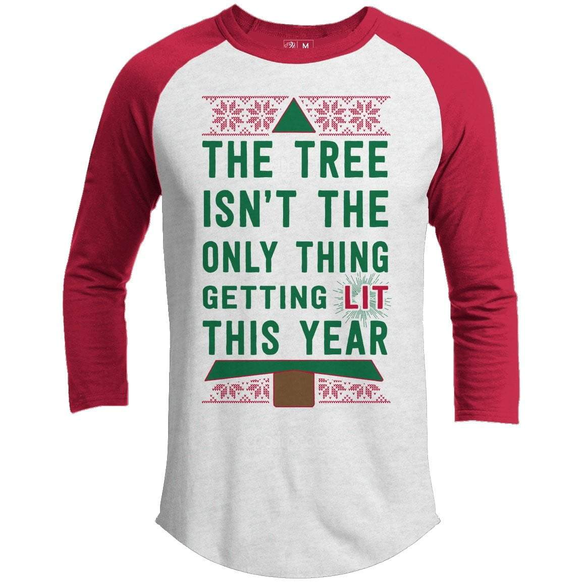 Getting Lit Premium Christmas Raglan