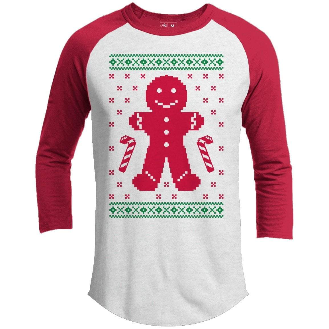 GINGERBREAD SWEATER Premium Youth Christmas Raglan
