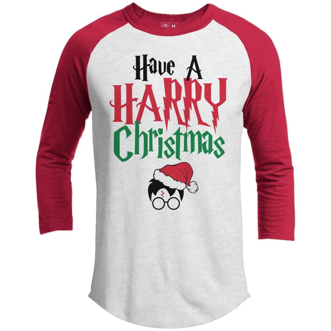 Harry Potter Christmas Premium Christmas Raglan