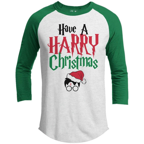 HARRY POTTER CHRISTMAS Premium Youth Christmas Raglan
