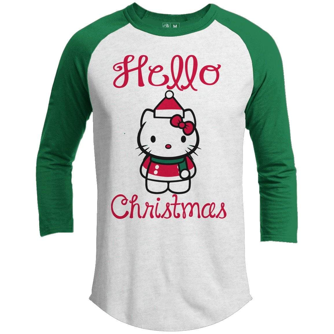 HELLO CHRISTMAS Premium Youth Christmas Raglan