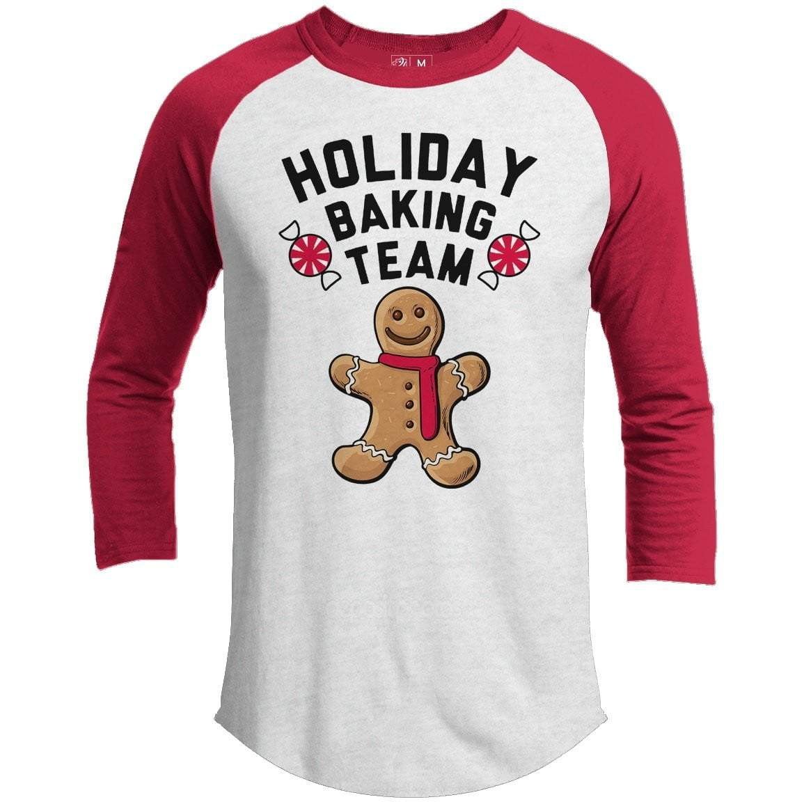 Holiday Baking Team Premium Youth Christmas Raglan