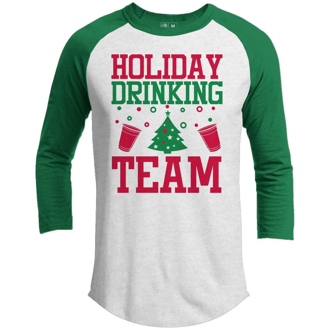 Holiday Drinking Team Premium Christmas Raglan