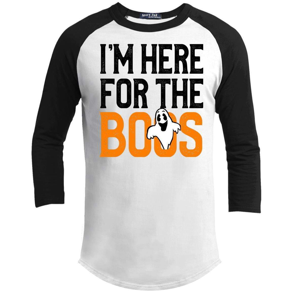 I'M HERE FOR THE BOOS Unisex 3/4 Sleeve Raglan