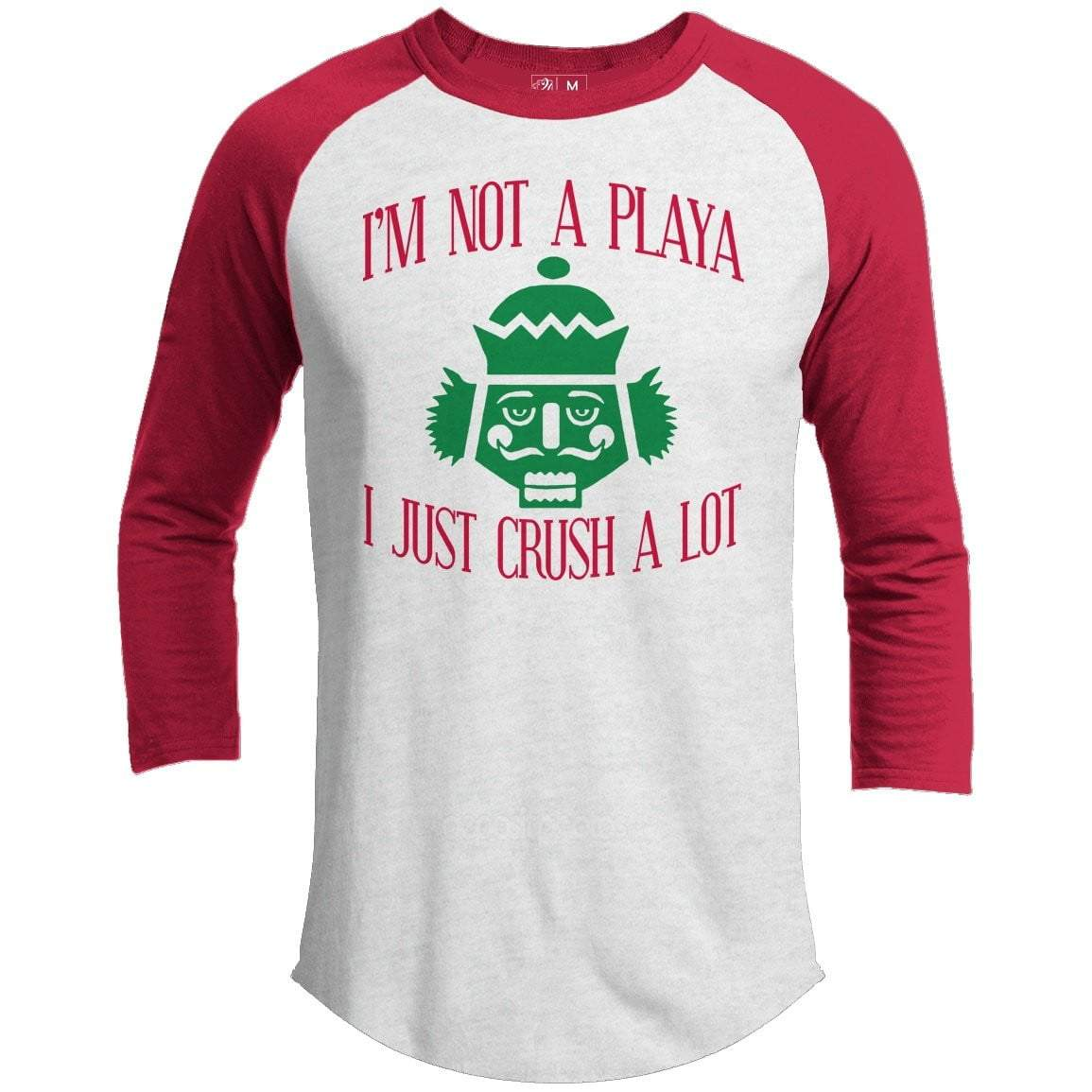 I'M NOT A PLAYA Premium Youth Christmas Raglan