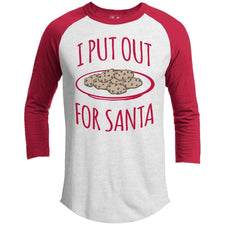 T-Shirts - I Put Out For Santa Premium Christmas Raglan