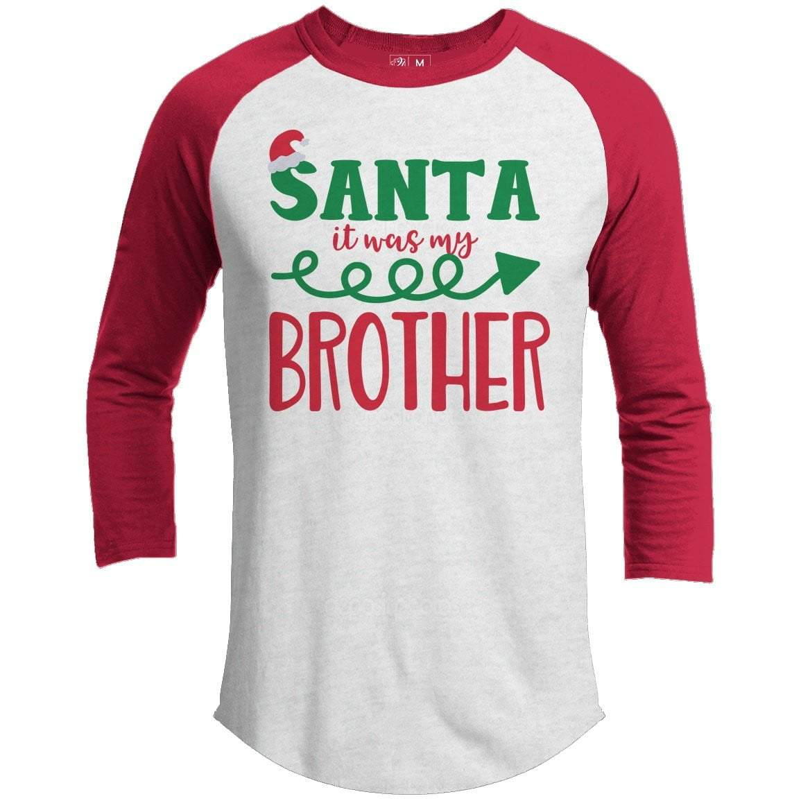 IT WAS MY BROTHER Premium Youth Christmas Raglan