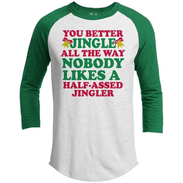 Jingle All The Way Premium Christmas Raglan