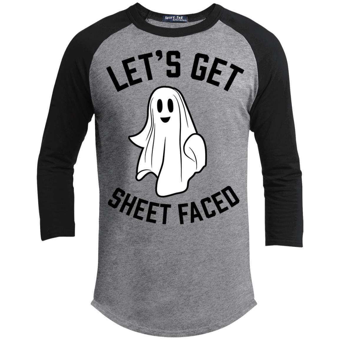 LET'S GET SHEET FACED Unisex 3/4 Sleeve Raglan