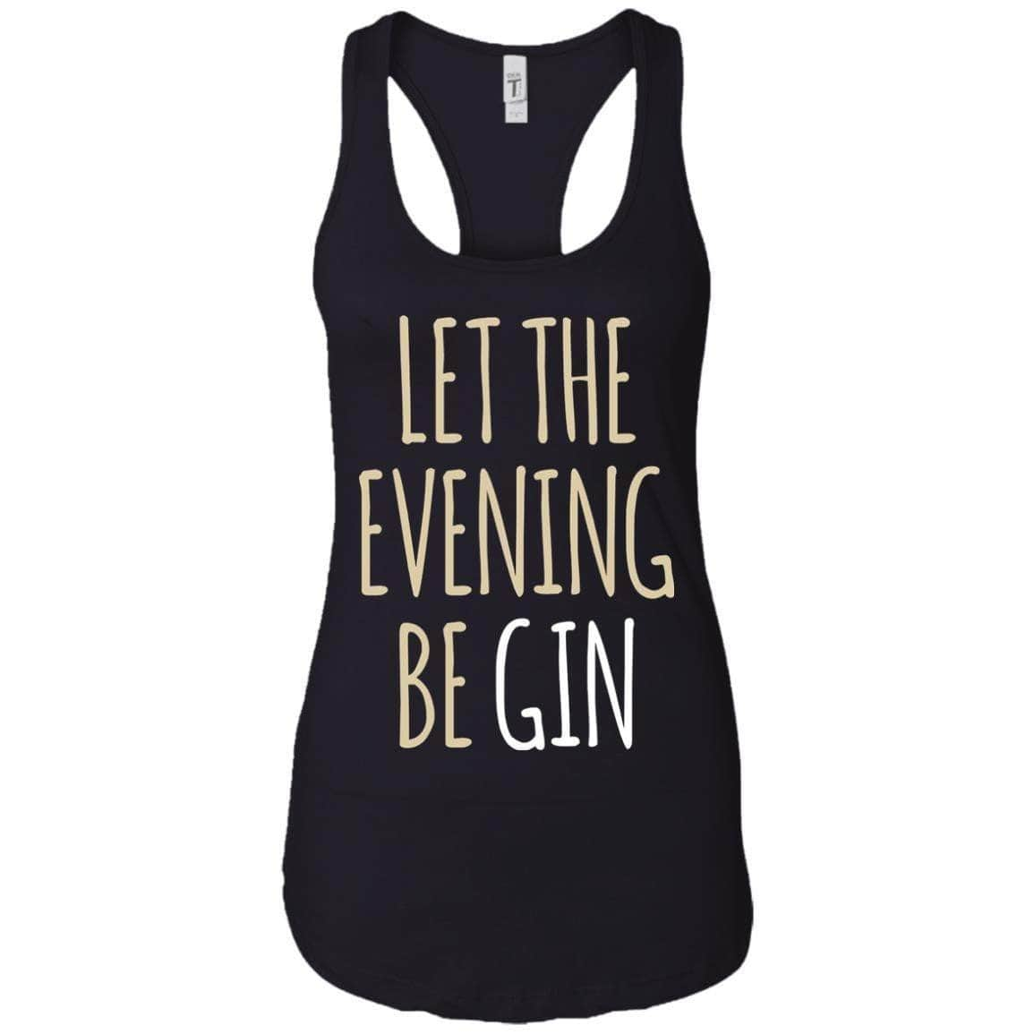 LET THE EVENING BE GIN WOMEN'S RACERBACK TANK