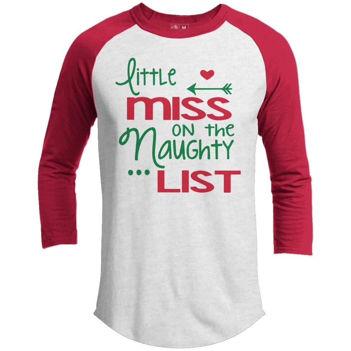 Little Miss Premium Christmas Raglan