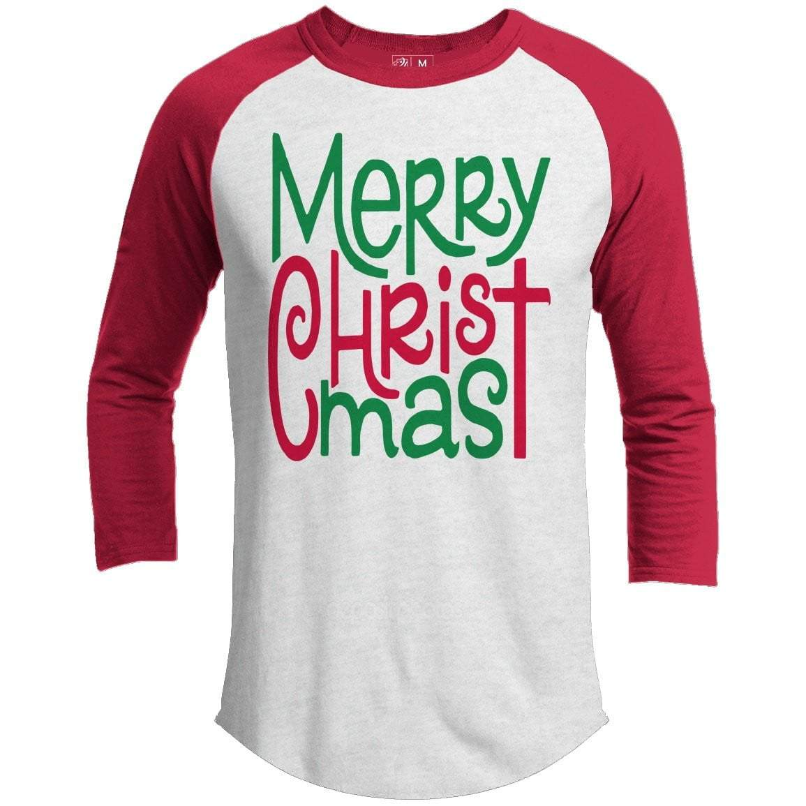 MERRY CHRISTMAS Premium Youth Christmas Raglan