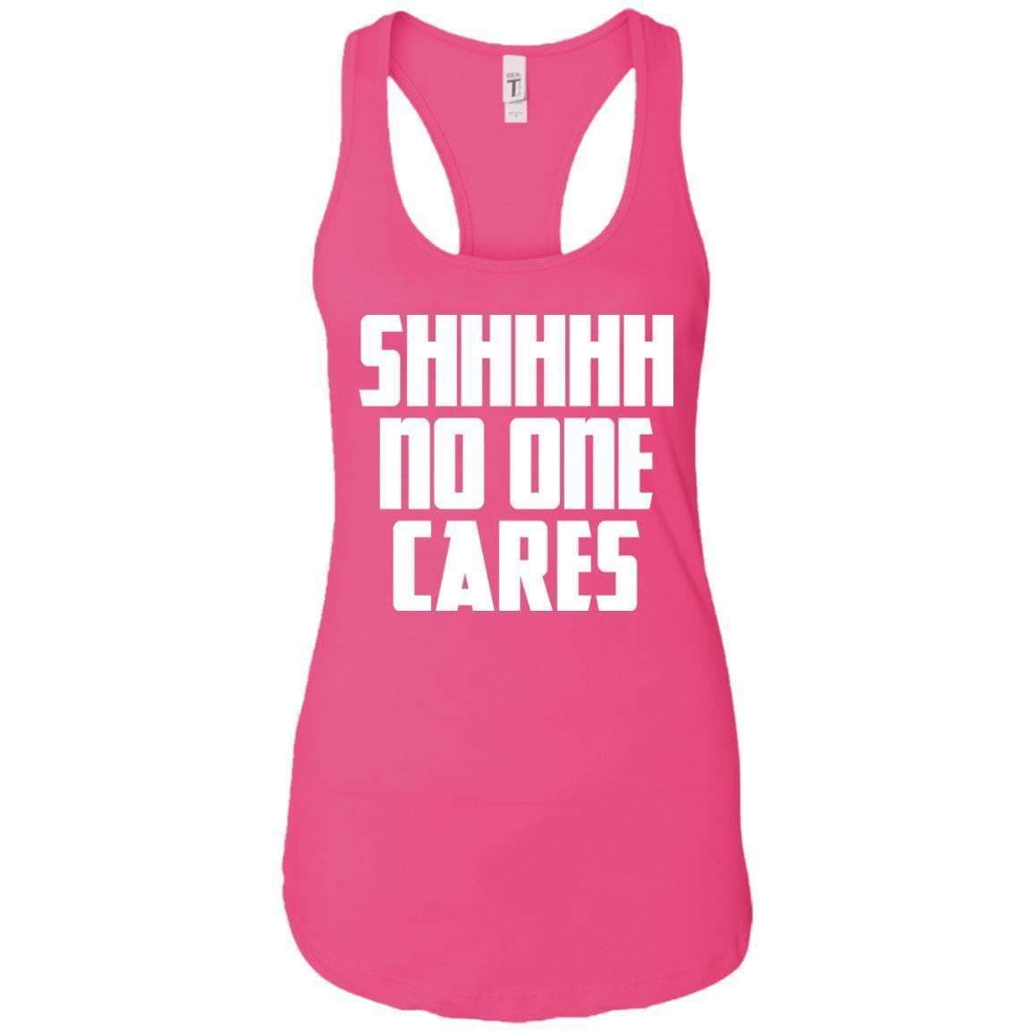 No One Cares Women's Racerback Tank