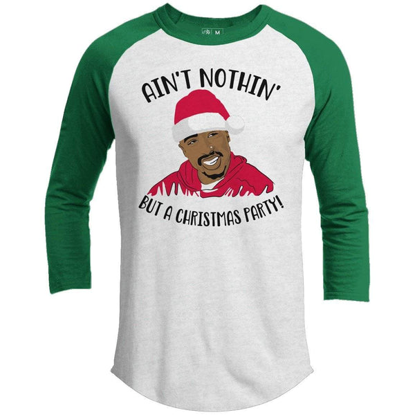 Nothin But A Christmas Party Premium Christmas Raglan