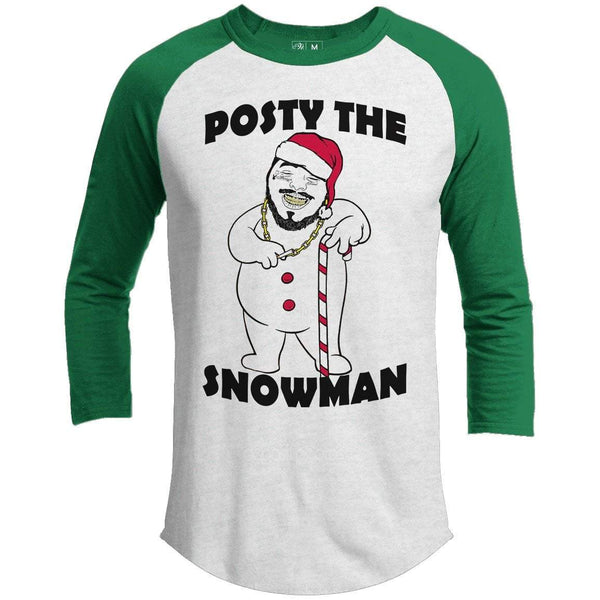 POSTY THE SNOWMAN Premium Christmas Raglan