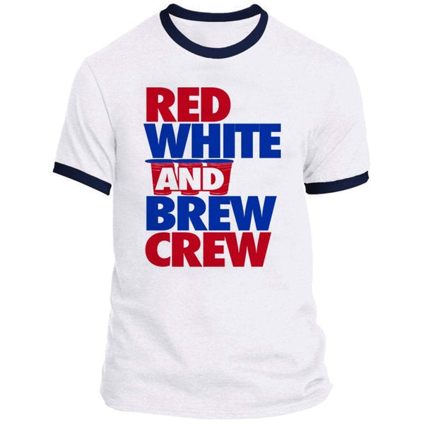 Red White and Brew CREW Ringer Tee